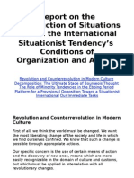 Report on the Construction of Situations