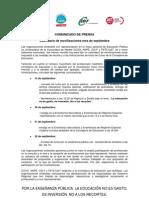Comunicado Prensa Movilizaciones 13_09_2011