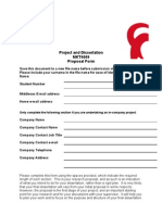 MKT4009 Proposal Form