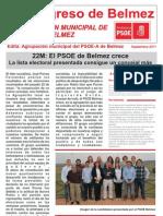 """BOLETÍN """"EL PROGRESO de BELMEZ """" PSOE de BELMEZ - Septiembre 2011"""