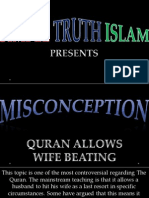 34. Quran Allows Wife Beating