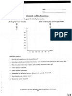 Supply and Demand Worksheets