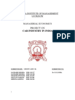 Car Industry in India
