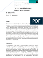 Paradigms in Industrial Relations