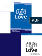 John Stott, For the Lord We Love - Your Study Guide to the Lausanne Covenant