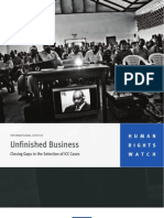 HRW-Unfinished Business- Closing Gaps in the Selection of ICC Cases