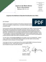 Hultgren Dear Colleague Letter HR2874 Sept-2011