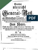 Kellner Treulicher Unterricht Im General-Bass 1737