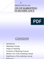 Evolution of Marketing and Its Significance