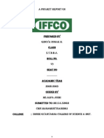IFFCO BBA MBA Project Report