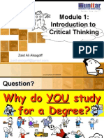 Introduction to Critical Thinking Prince Dudhatra 9724949948