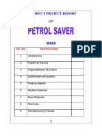 Petrol Saver-BBA-MBA Project Report
