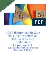 LGBT History Month 2010 Pub Quiz