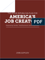 House Republican Plan for America's Job Creators