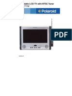 Polaroid LCD Portable TV - 7 M Manual