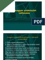 A magyar szókészlet változása