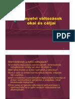 A nyelvi változások okai és céljai