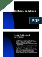 Szinkrónia és diakrónia