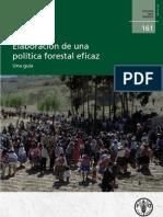 Elaboración de una política forestal eficaz