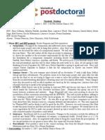 98th Penn Biomedical Postdoctoral Council minutes, November 05, 2007
