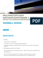 Dalanerådet - innkalling - 22.09.11 - Vedlegg - Mulighetsstudie høyhastighetsbane Brokelandsheia-Egersund - Rambølls presentasjon