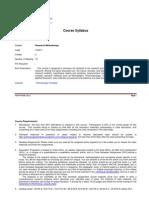 Research Methodology Sylabus