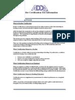 Drafter Certification Test Information
