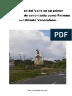La Virgen Del Valle en Su Primer rio de Canonizada Como Patrona Del Oriente Venezolano