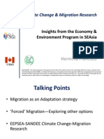 Climate Change and Migration Research from the Economy and Environment Program in Southeast Asia by Herminia Francisco, Economy and Environment Program for Southeast Asia, Singapore