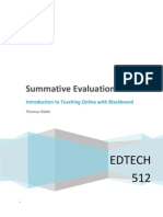 EDTECH 512 - Summative Evaluation Plan