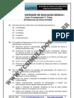 PEB - I   -   PROFESSOR DE EDUCAÇÃO BÁSICA I  -  SIMULADO 2012 - VCSIMULADOS.COM.BR