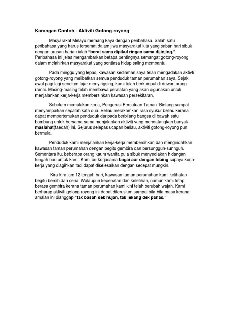Laporan Gotong Royong Di Taman Perumahan