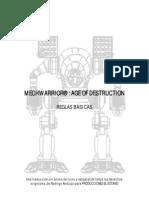 Mechwarrior Reglas Basicas / Juego de miniaturas