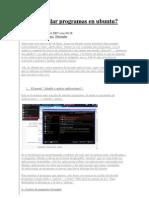 Como Instalar Programas en Ubuntu