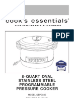Cooks Essentials Pressure Cooker 8-Quart User Manual