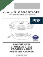 Cooks Essentials Pressure Cooker 8-Quart User Manual