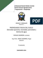 Riegos y Drenajes Informe 1