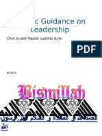 Islamic Guidance on Leadership