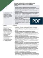Lineamientos Nacionales de Politíca de la Formacion Profesional