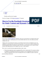 Facebook Live Stream (Anti) Social Development