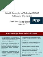 Course Objective Outcomes Plan A1 Slot