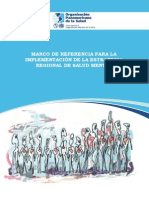 Marco de Referencia implementación estrategias Salud Mental OPS 2011