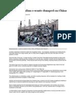 Reading 7.3. Toxic Ewaste Dumped in China