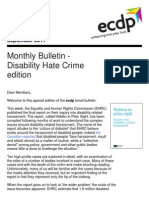ecdp Monthly Bulletin - Disability Hate Crime edition