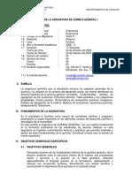 Silabo Quimica General I Enfermería-2008-II