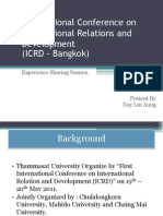 International Conference on International Relations and Development