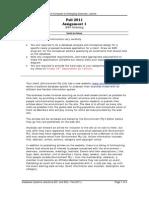 Assignment 1- EER Modeling