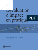 Impact Evaluation in Practice; L'évaluation d'impact en pratique