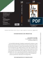 Fenomenología del presentar (Jean-Frédéric Chevallier)