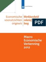 Macro Economische Verkenning (MEV) 2012